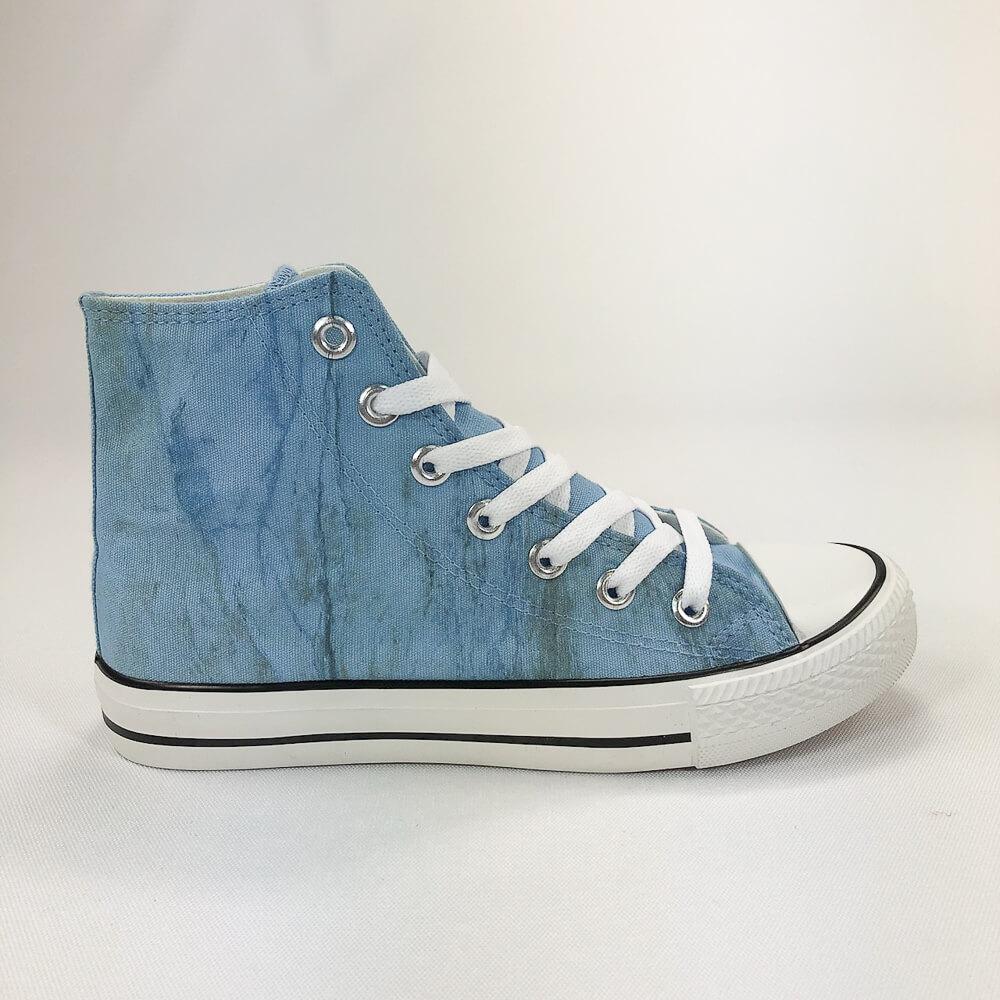 YOSHI850|新創設計師850 Collections:帆布鞋【06 藍鞋白帶】