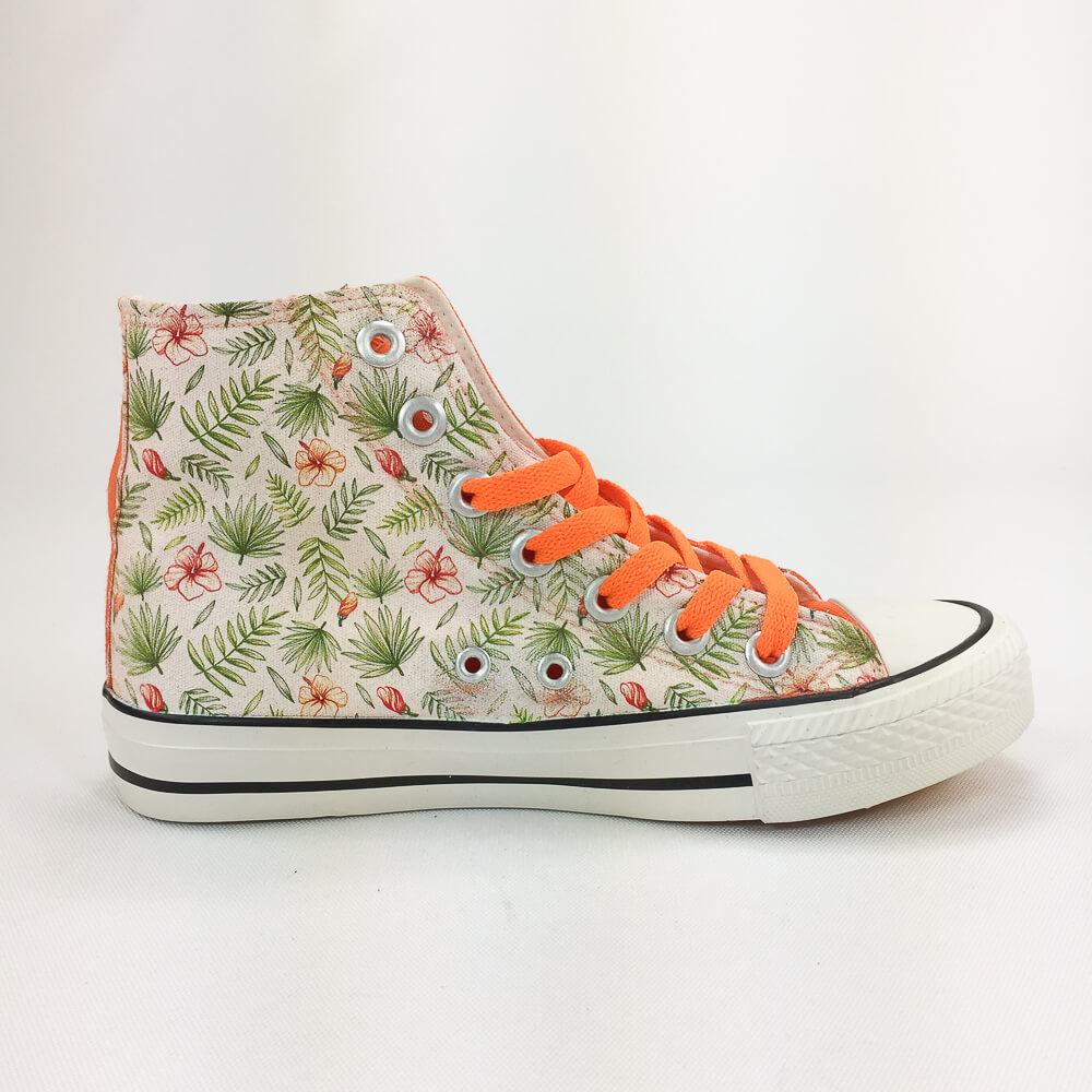 YOSHI850|新創設計師850 Collections:帆布鞋【09 橘鞋橘帶】