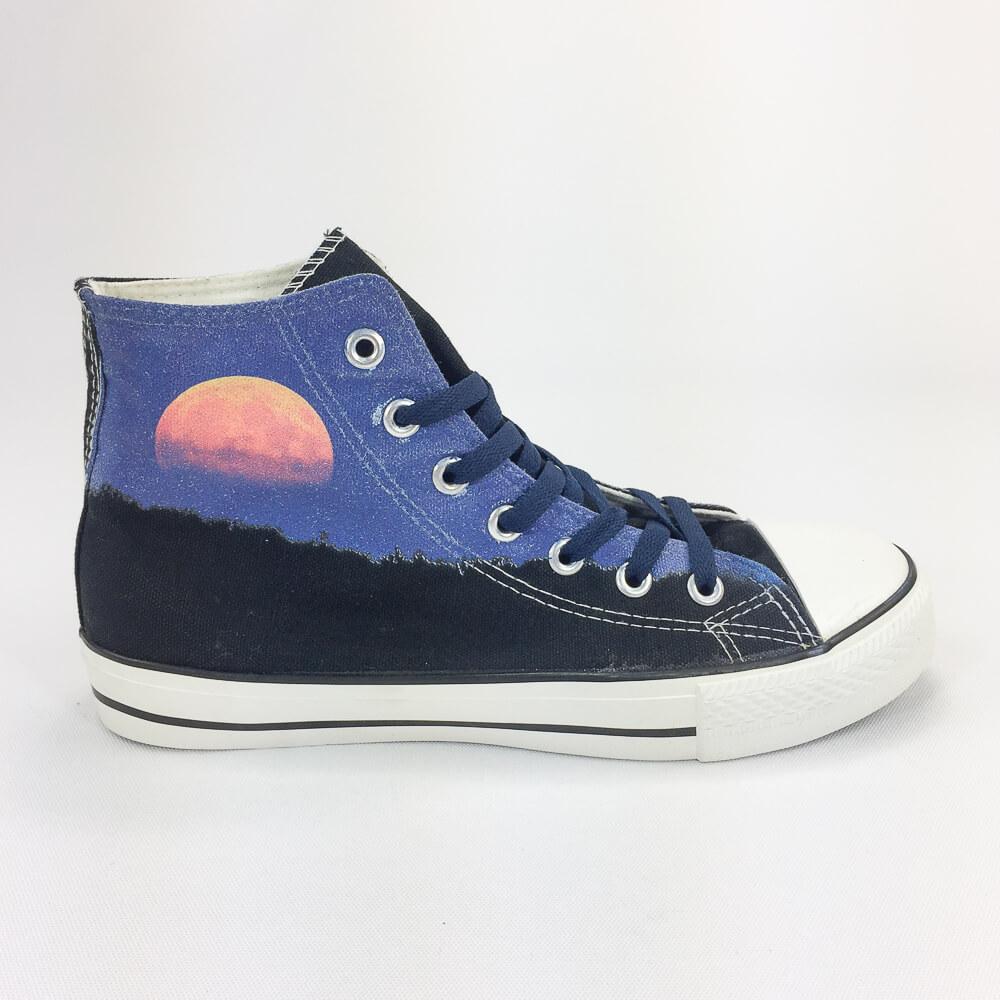 YOSHI850|新創設計師850 Collections:帆布鞋【14 黑鞋藏青帶】