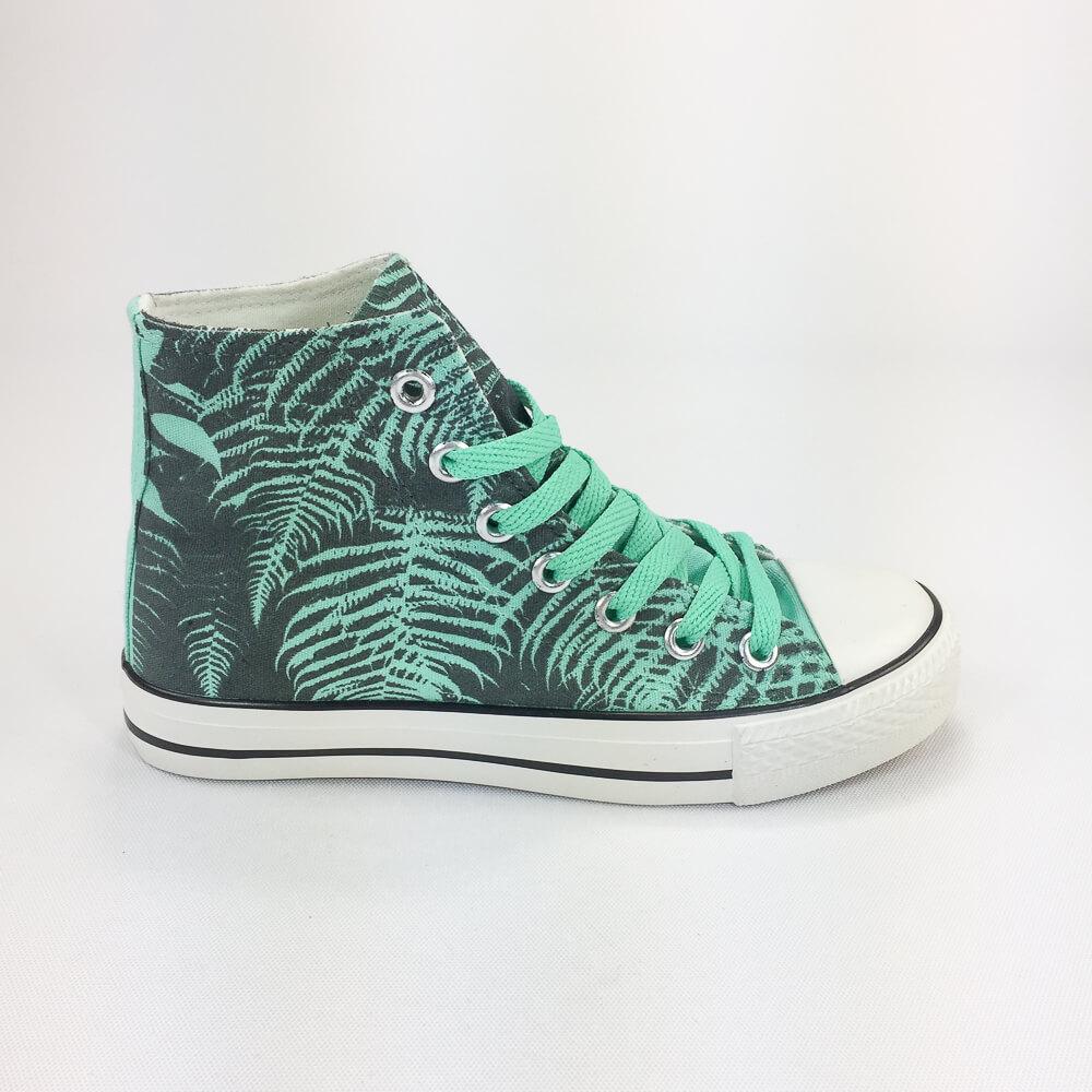 YOSHI850 新創設計師850 Collections:帆布鞋【15 綠鞋淺綠帶】