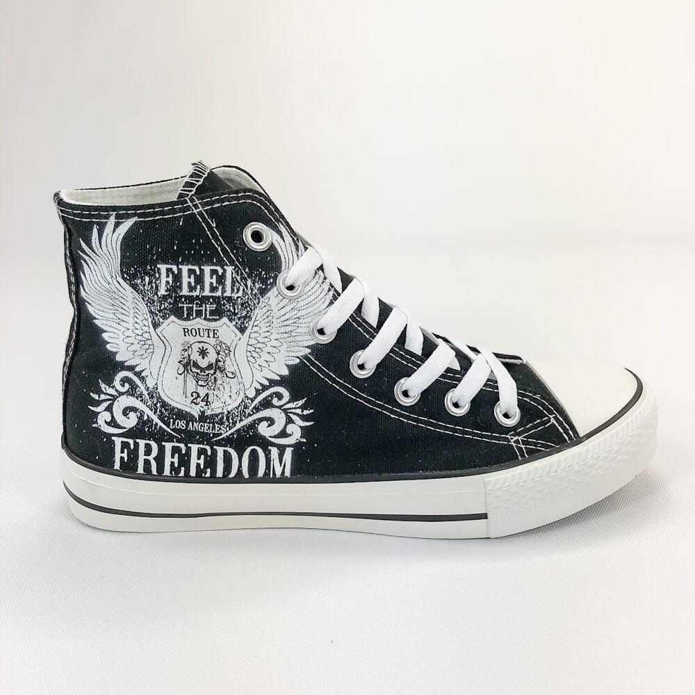 YOSHI850|新創設計師850 Collections:帆布鞋【17 黑鞋白帶】