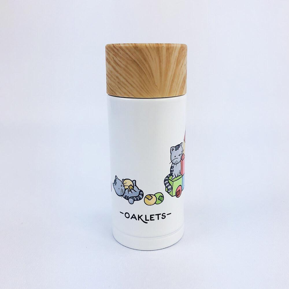 YOSHI850|新創設計師 - oaklets:木紋蓋保溫瓶(小-200ml)【02 白】