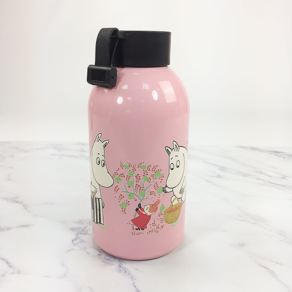 YOSHI850|Moomin嚕嚕米正版授權:大容量不鏽鋼保溫瓶(650ml)【02 粉紅】