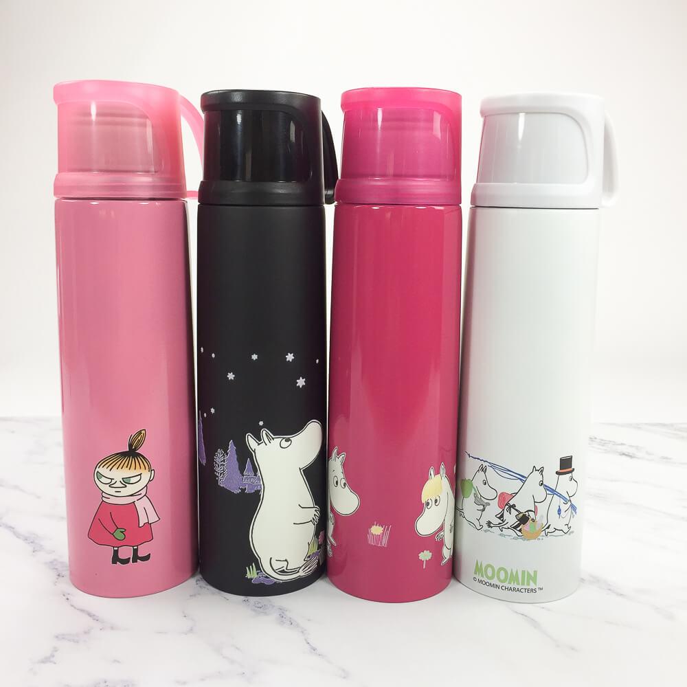 YOSHI850 Moomin嚕嚕米正版授權:杯蓋保溫瓶(小-350ml)【02 桃】
