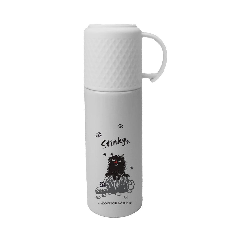 YOSHI850 Moomin嚕嚕米正版授權:格紋蓋保溫瓶-(大,灰)-EG18AE04L