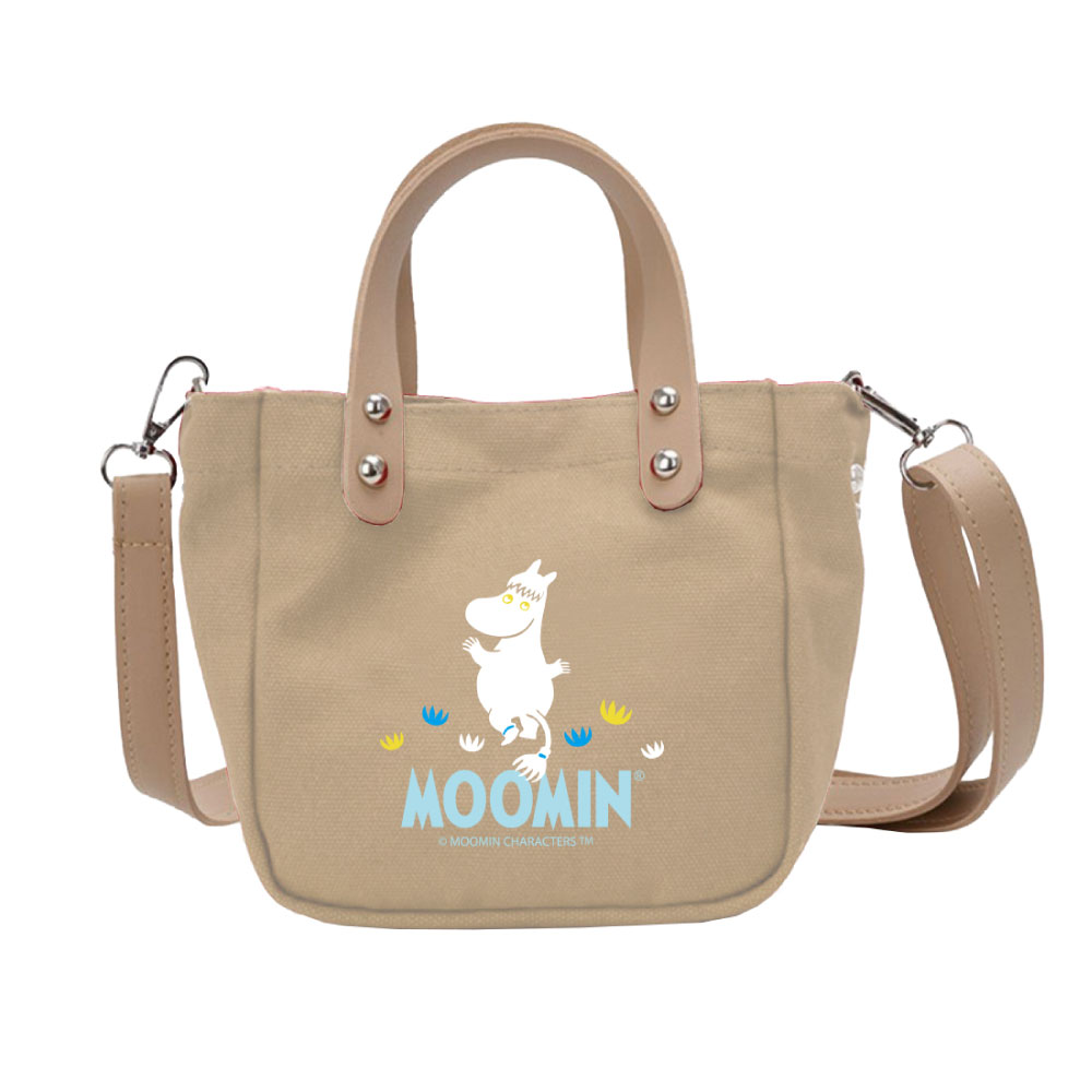 YOSHI850|Moomin嚕嚕米正版授權:皮帶肩背小包03(卡其) -CE22AE03