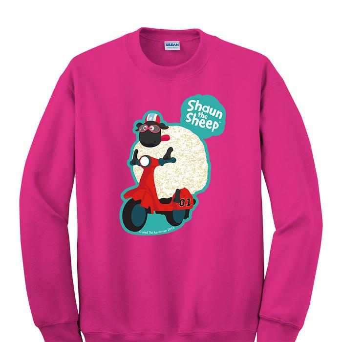 (複製)YOSHI850 笑笑羊正版授權:大學T【ZZ 羊】成人長袖 T-shirt (桃紅)