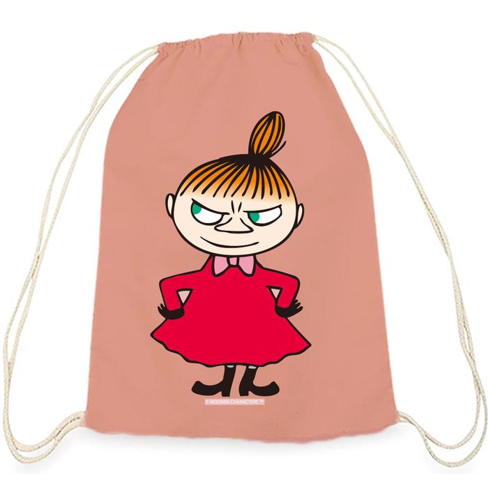 (複製)YOSHI850|Moomin嚕嚕米正版授權:彩色束口後背包【阿金】軍綠