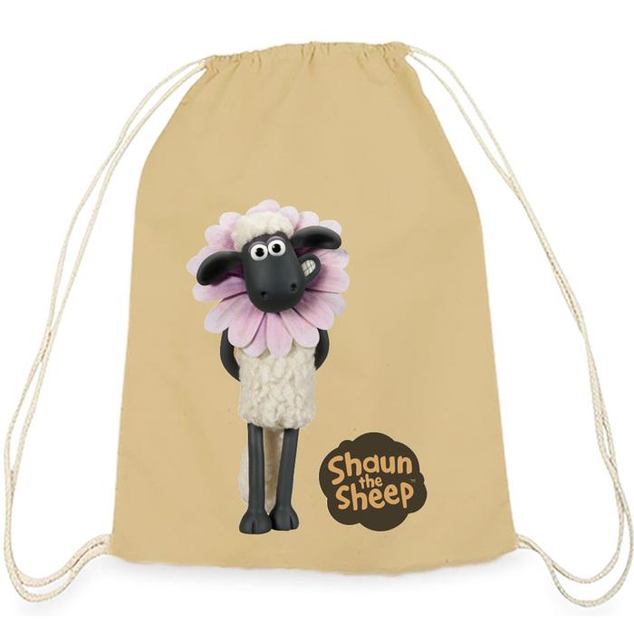 (複製)YOSHI850|笑笑羊正版授權:彩色束口後背包【 BAA!!】水藍