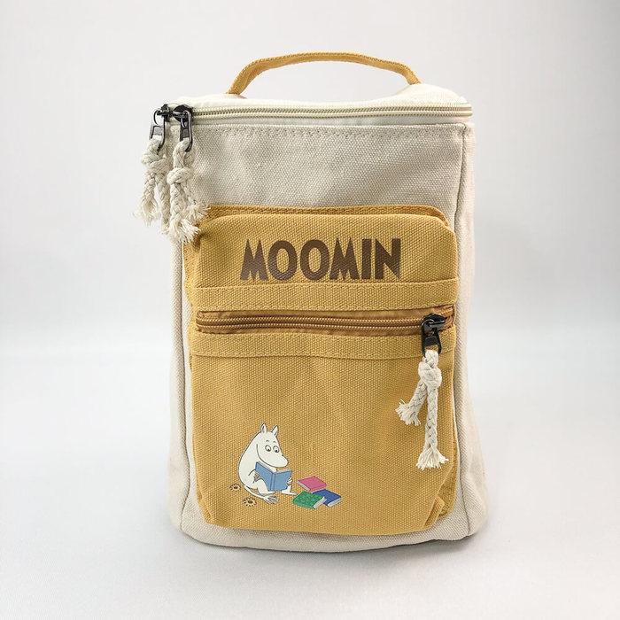 (複製)YOSHI850|嚕嚕米正版授權:方筒拼色後背包【粉】(親子包-大款)