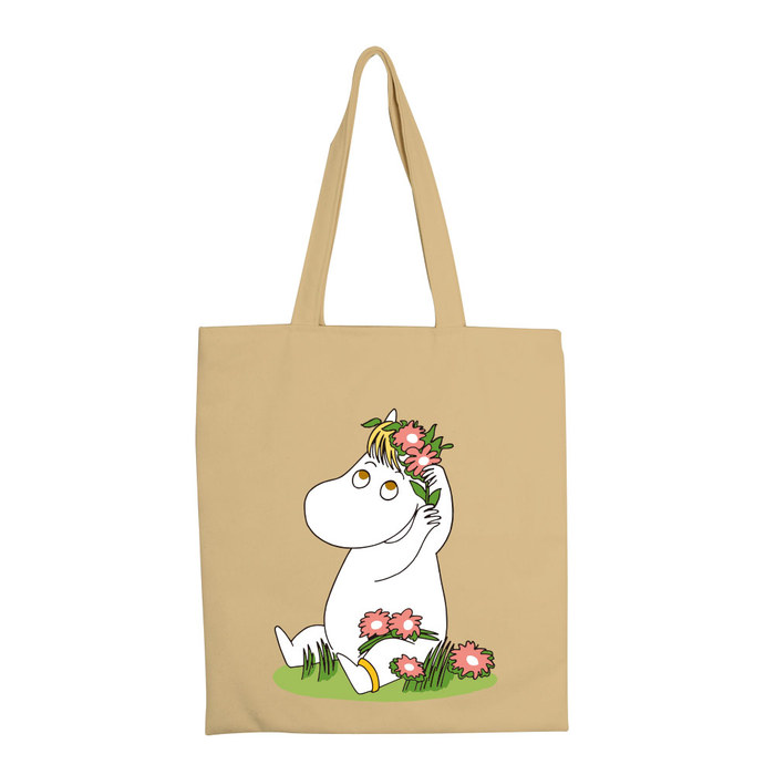 (複製)YOSHI850|嚕嚕米正版授權:彩色手提購物包【02 花漾(果綠)】