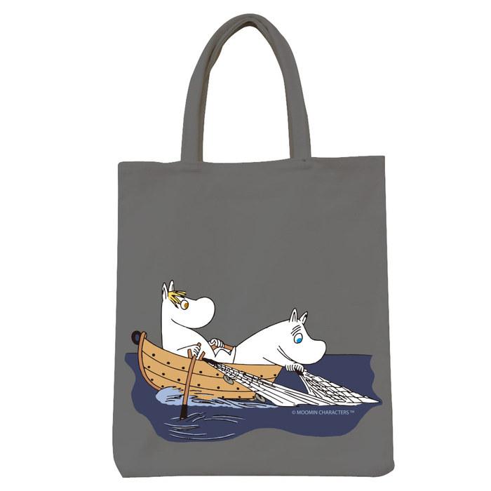 (複製)YOSHI850|Moomin嚕嚕米正版授權:彩色野餐包【05 moomin捕魚趣(藏青)】