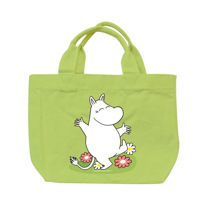 YOSHI850|Moomin嚕嚕米正版授權:彩色托特包【02 花漾(果綠)】