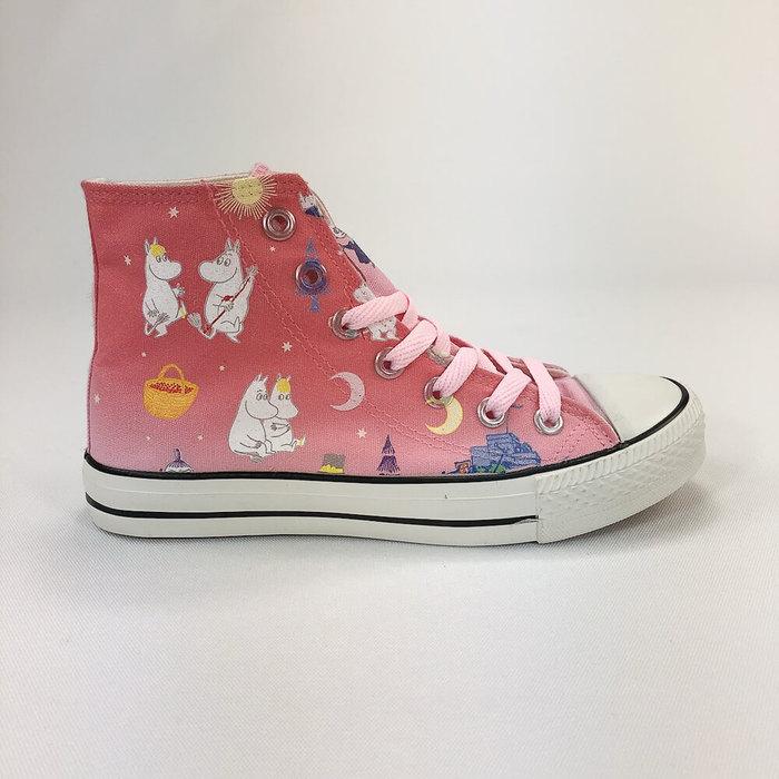 (複製)YOSHI850|Moomin嚕嚕米正版授權:帆布鞋【03橘鞋紅帶】