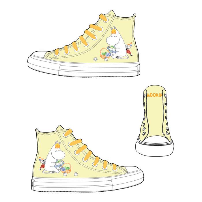 (複製)YOSHI850|Moomin嚕嚕米正版授權:帆布鞋【14黃鞋黃帶】