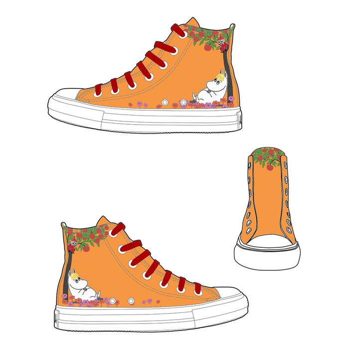 (複製)YOSHI850|Moomin嚕嚕米正版授權:帆布鞋【21(粉鞋粉帶】