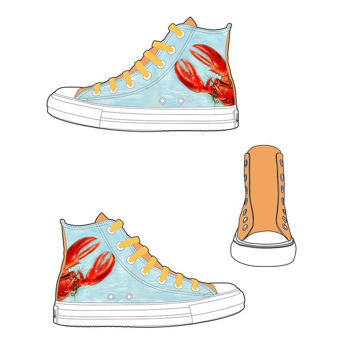 (複製)YOSHI850|新創設計師系列:帆布鞋【02 夏日‧我愛冰淇淋(粉鞋白帶)】