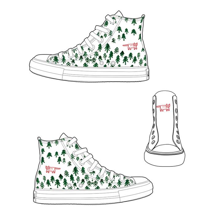 (複製)YOSHI850 新創設計師系列:帆布鞋【03 動物迷蹤 獨佔鰲頭(橘鞋橘帶)】