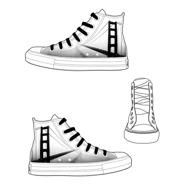 (複製)YOSHI850|新創設計師850 Collections:帆布鞋【07 白鞋紅帶】