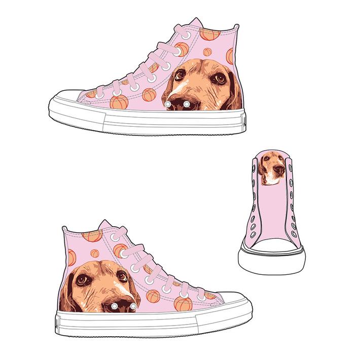 (複製)YOSHI850|The Dog:帆布鞋【04 淺綠鞋綠帶】