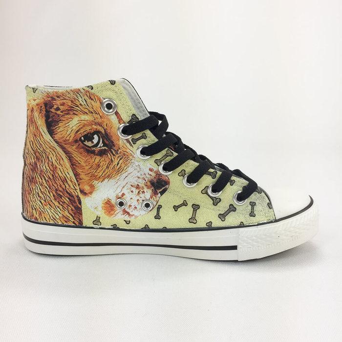 (複製)YOSHI850|The Dog:帆布鞋【06 黑鞋咖帶】