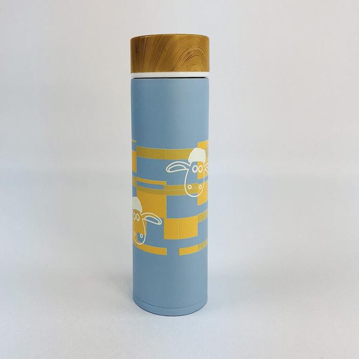 (複製)YOSHI850|笑笑羊正版授權:木紋蓋保溫瓶(大-500ml)【02 綠】