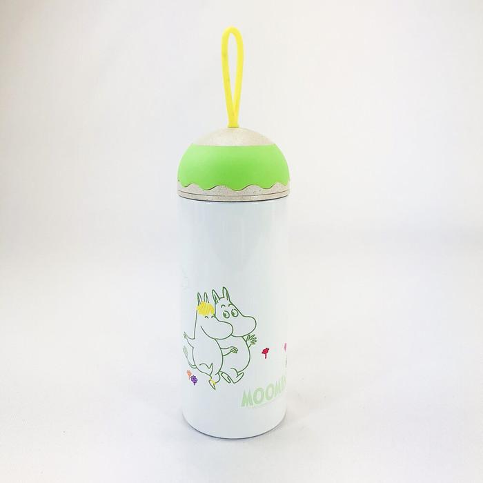 (複製)YOSHI850|Moomin嚕嚕米正版授權:彩色提帶可愛造型保溫瓶(350ml)【02 紫白】