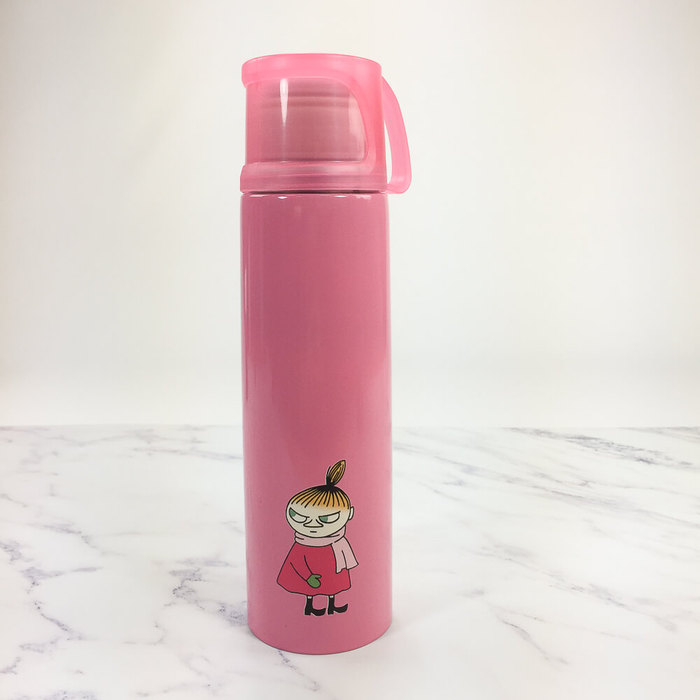 (複製)YOSHI850 Moomin嚕嚕米正版授權:杯蓋保溫瓶(小-350ml)【01 桃】