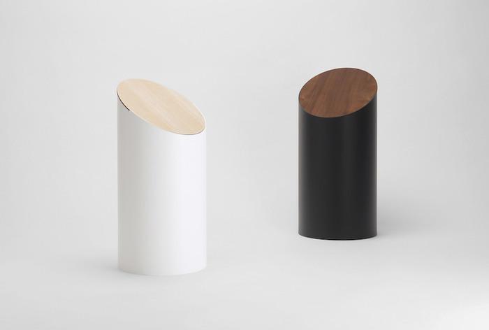 MOHEIM|SWING BIN 黑色 胡桃木垃圾桶