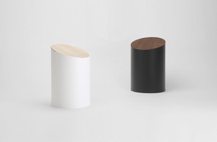MOHEIM|SWING BIN 白色 楓木垃圾桶 S