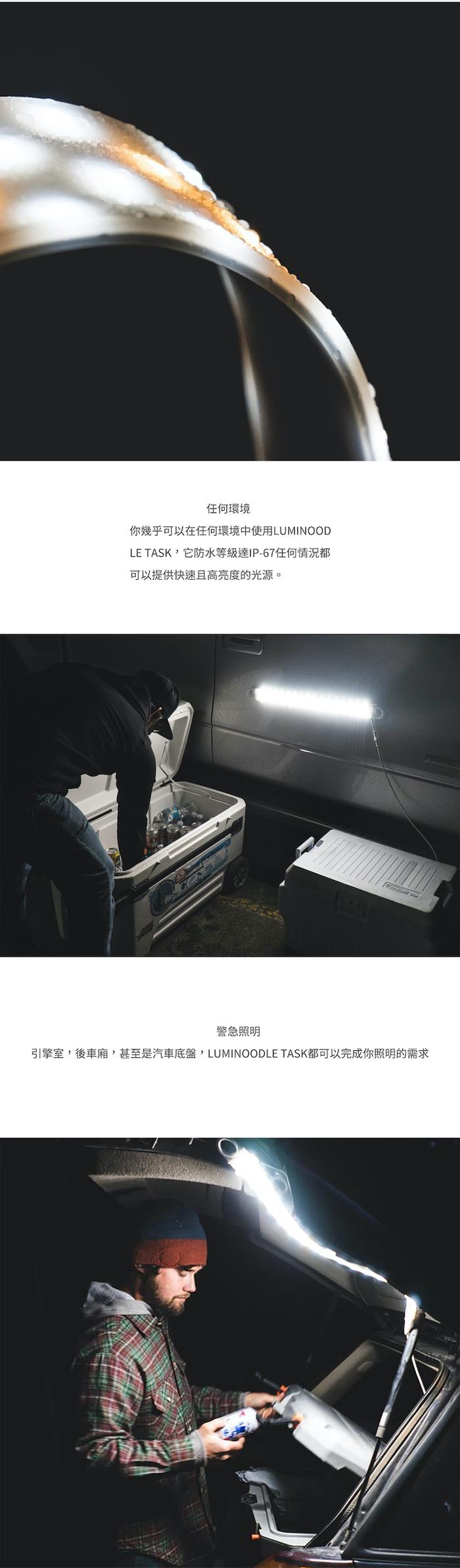 Luminoodle TASK 便攜式高亮露營LED燈條/USB供電