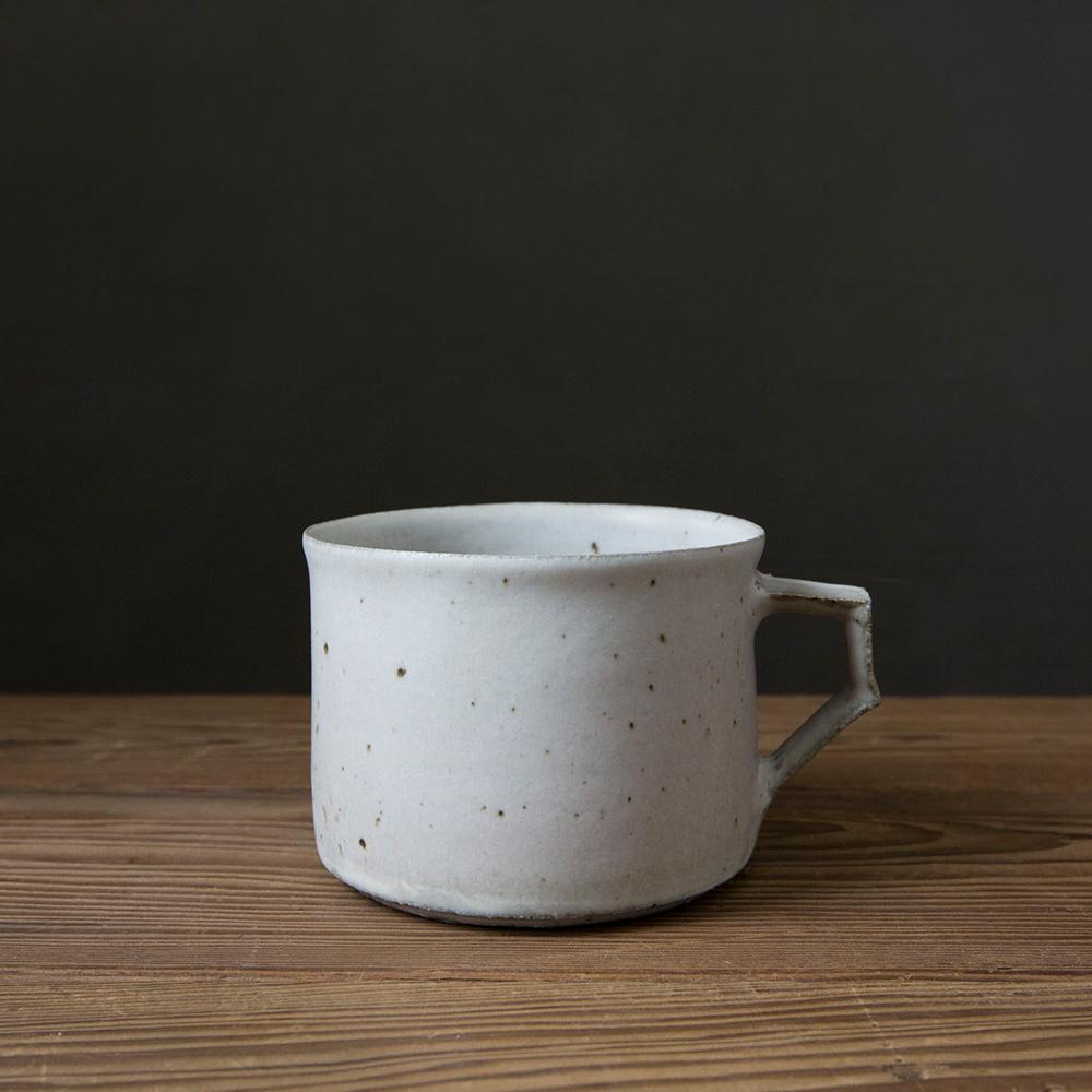 清岡幸道KIYOOKA KOUDOU|信楽燒 鏽釉馬克杯(白)
