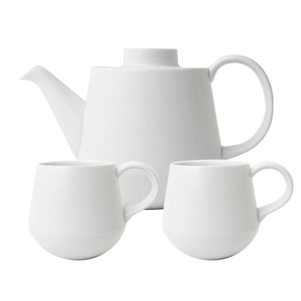 KIHARA|白素磁釉 茶具組