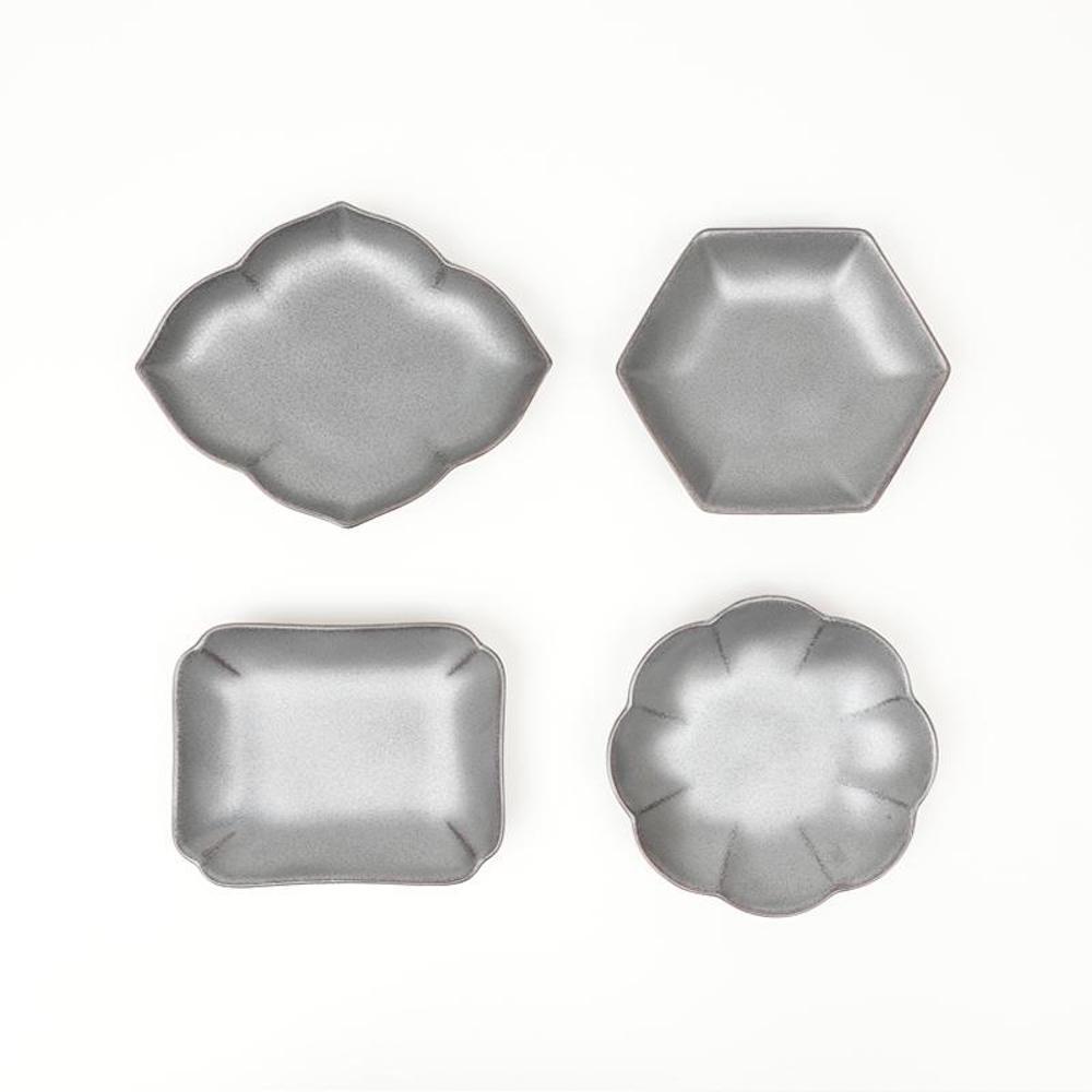 KIHARA|黑砂釉 小皿組