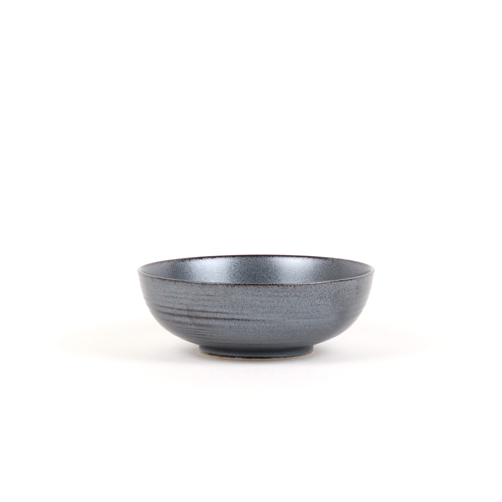 KIHARA|黒砂釉 淺碗 S