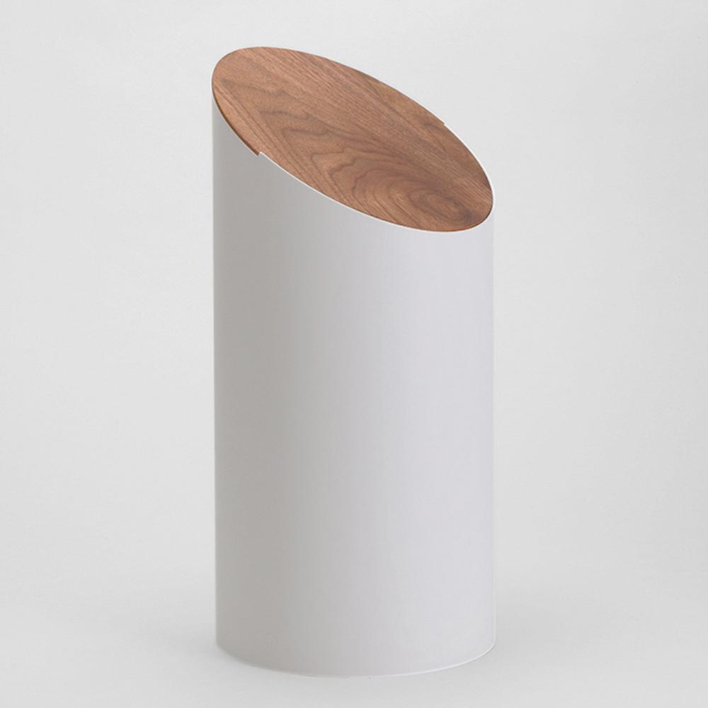MOHEIM|SWING BIN 灰 胡桃木 垃圾桶