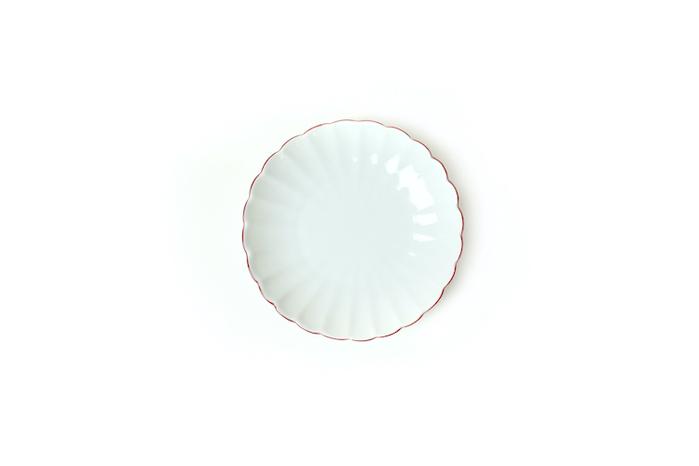 KIHARA|菊型取皿 渕赤