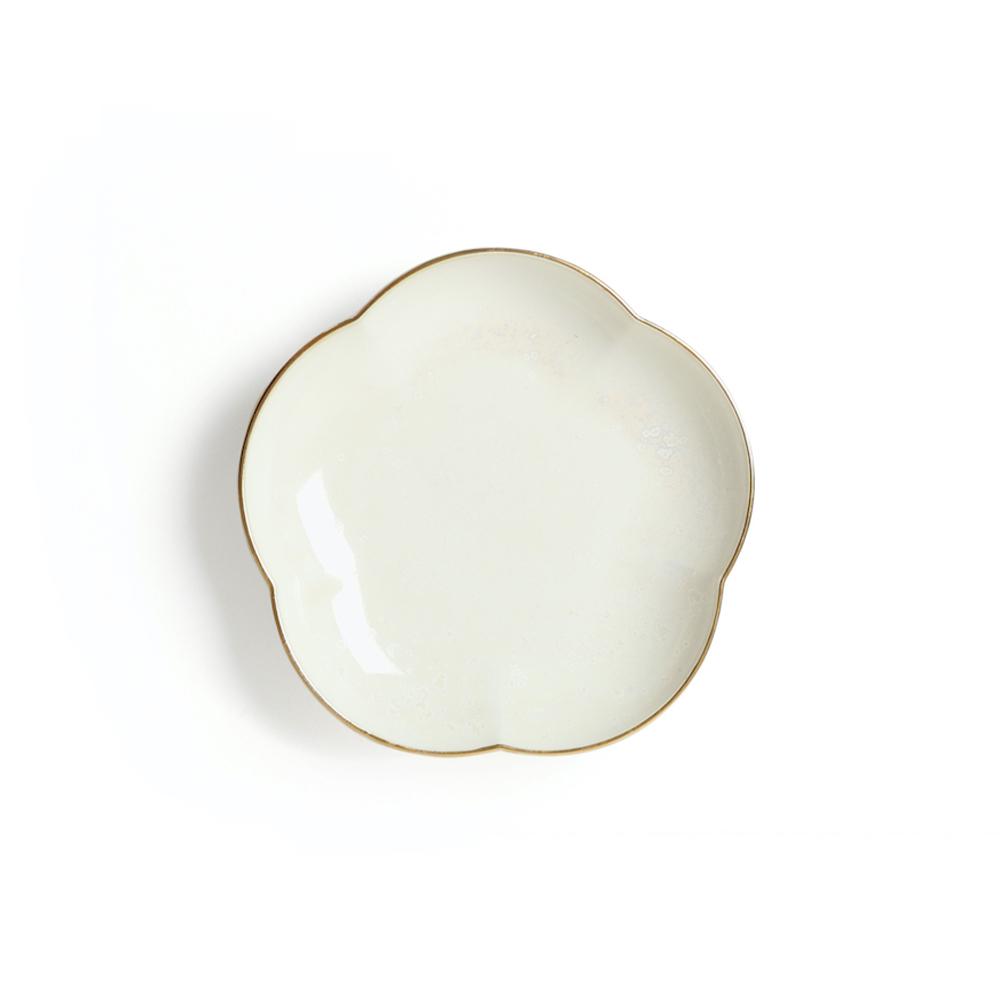 KIHARA|白結晶釉 取皿