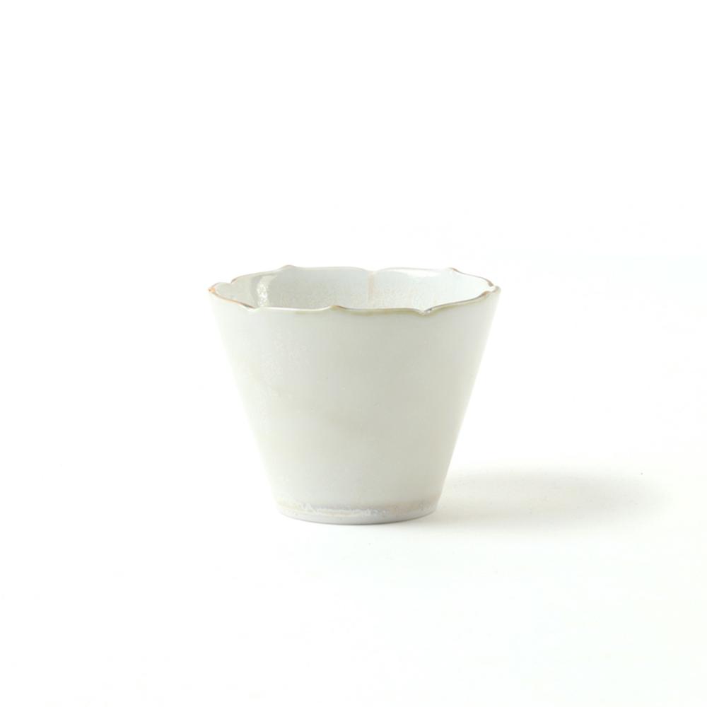 KIHARA 白結晶釉 寬口杯