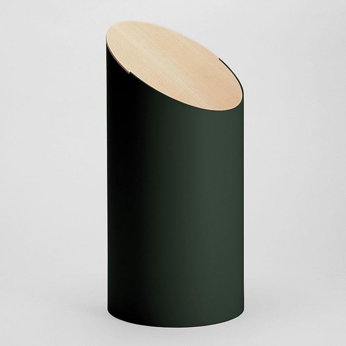 (複製)MOHEIM|SWING BIN 墨綠 胡桃木垃圾桶