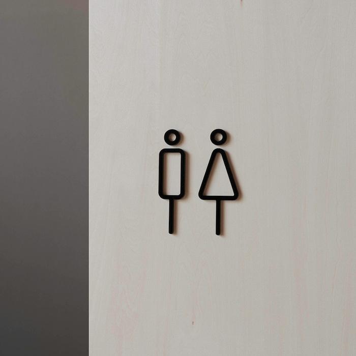 (複製)MOHEIM|RESTROOM SIGN 男女標示 白
