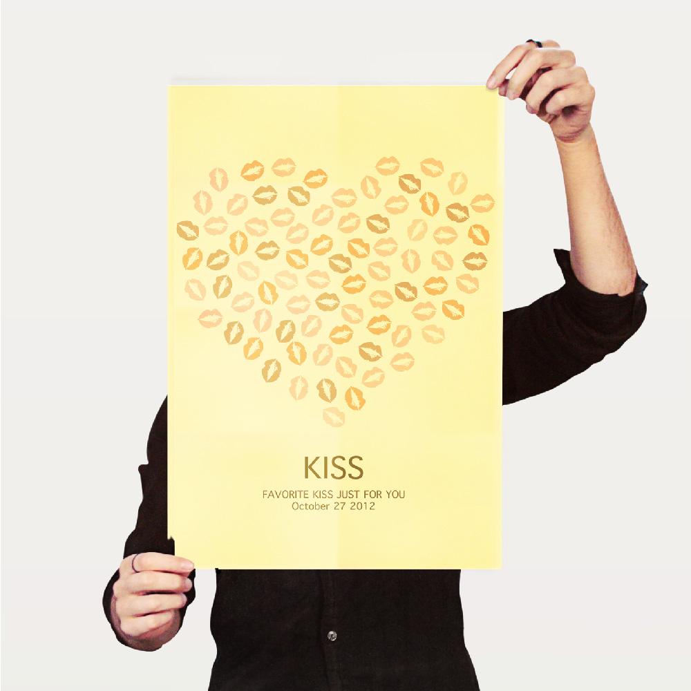 Tequila|原創設計海報A3直立-簽名樹Kiss