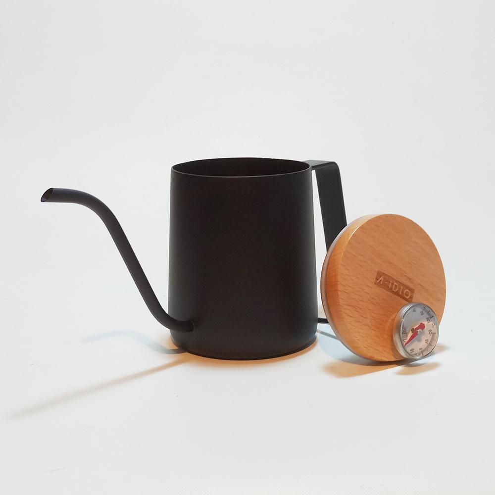 A-IDIO|人文時尚手沖細口壺(魅力黑)-350ml