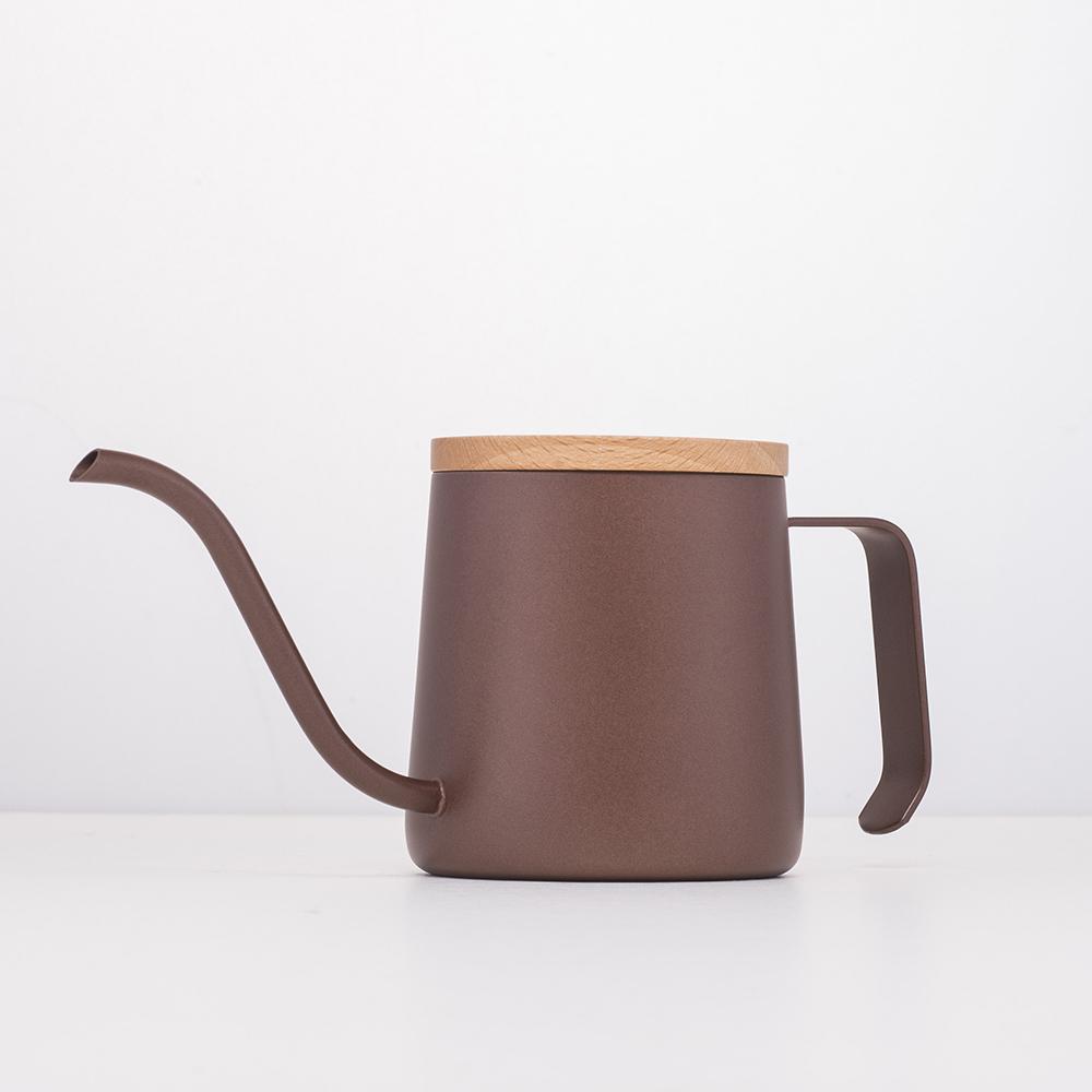 A-IDIO 人文手沖細口壺(240ml)-咖啡色