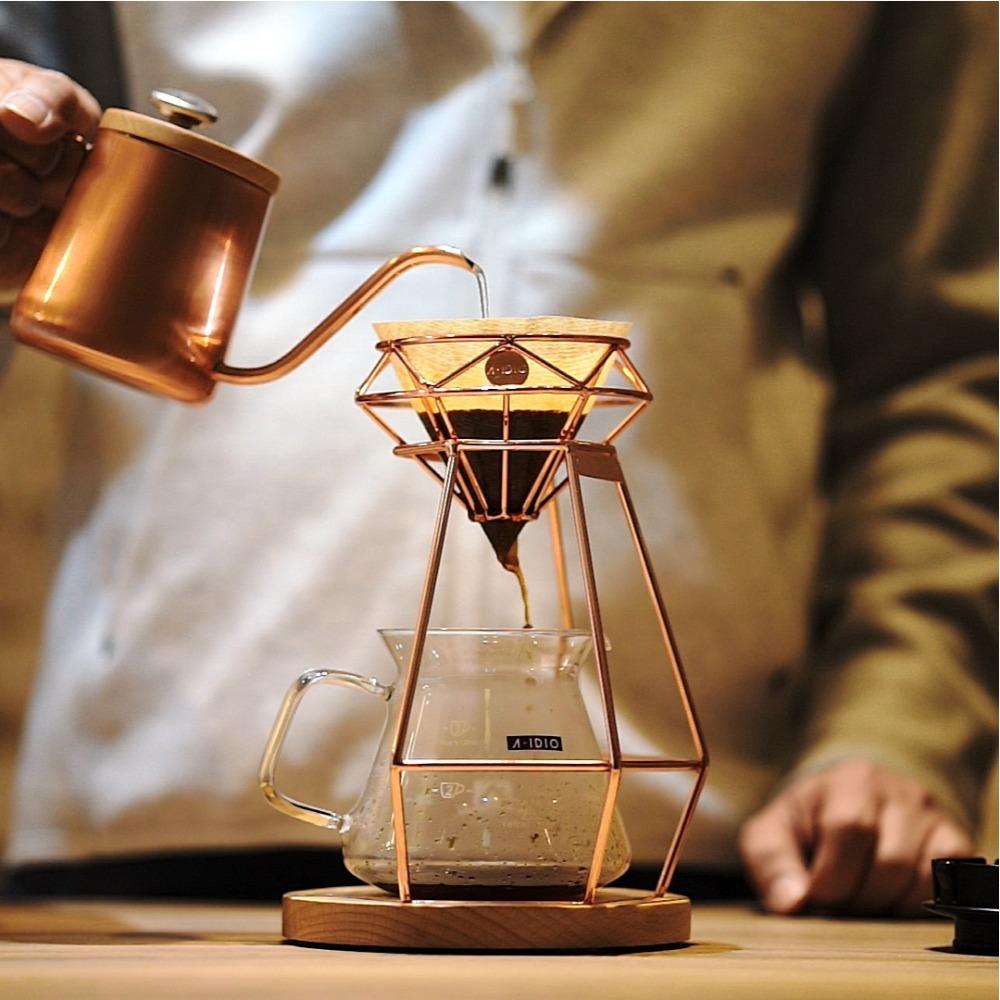 A-IDIO 鑽石手沖咖啡架組-玫瑰金