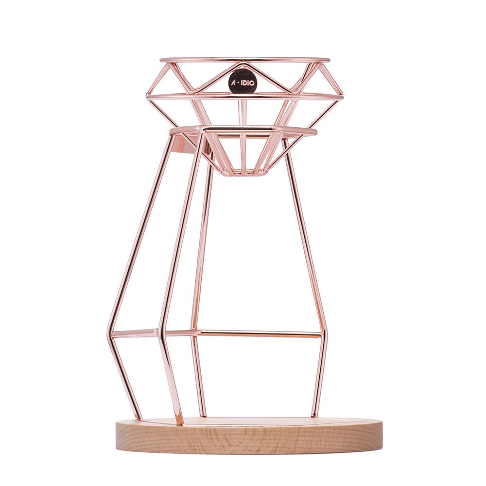 A-IDIO|鑽石手沖咖啡架組-玫瑰金
