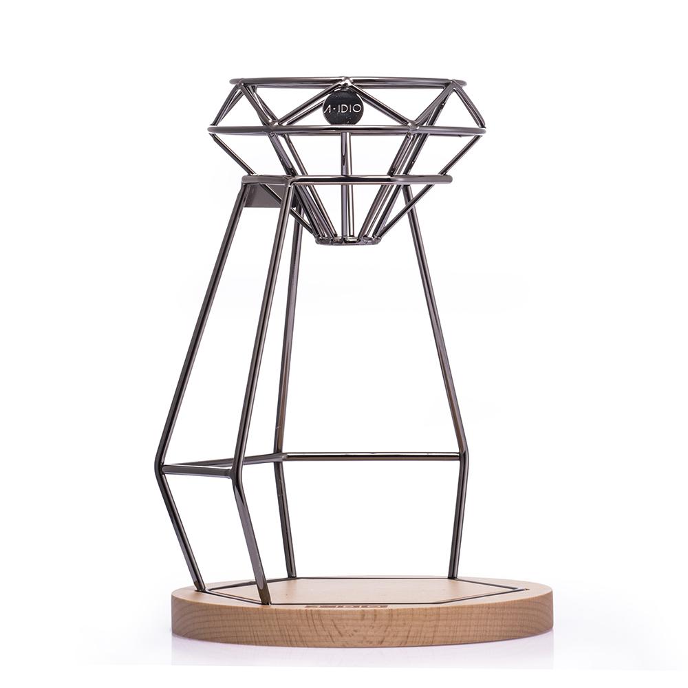 A-IDIO 鑽石手沖咖啡架組-曜石黑
