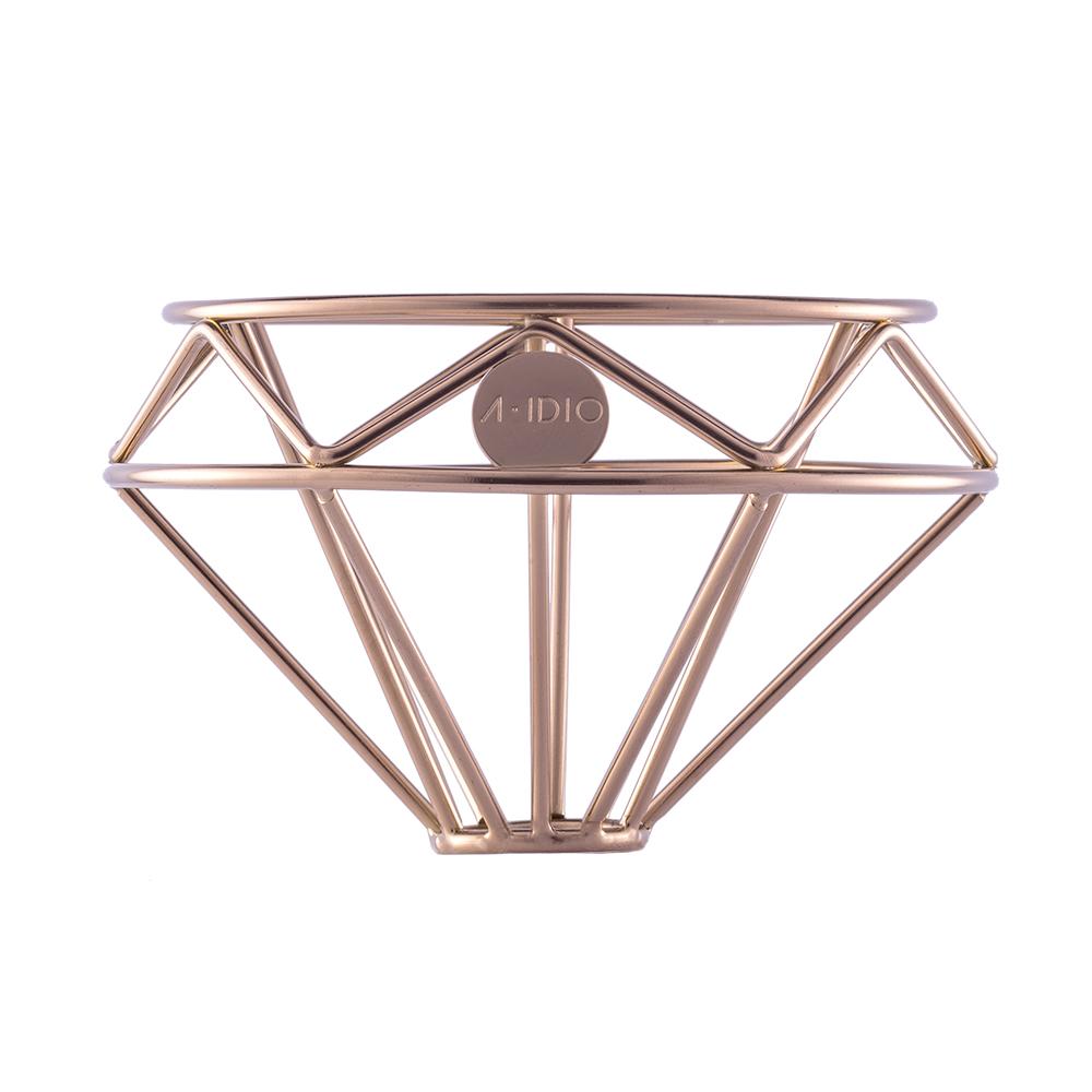 A-IDIO|鑽石咖啡濾杯(附絨布袋)—鈦金版