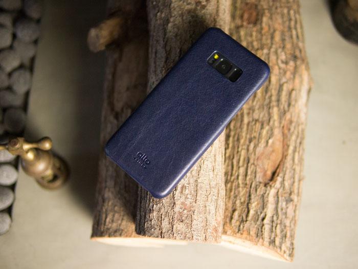 Alto|Samsung Galaxy S8 真皮手機殼背蓋 Original - 海軍藍