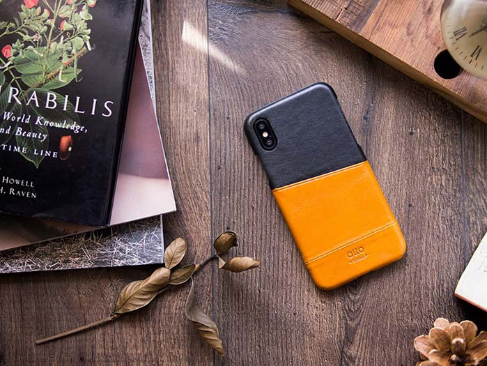 Alto|iPhone X 皮革保護殼 Metro (焦糖棕/渡鴉黑)